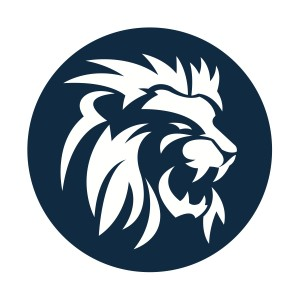 Lion Head Athletic Logo Circle