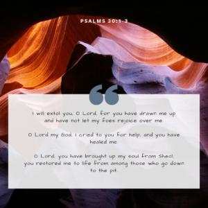 Psalms 30:1-3 Image